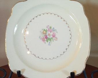 Paden City Pottery Square Salad/Dessert Plates, Set of 4