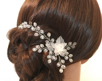 Bridal headpiece hair pins, wedding hair pins, hair pins bridal, flower headpiece wedding, hair pins for wedding, wedding hair accessories