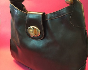 CELINE  VINTAGE BAG brown leather