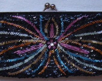 Vintage Beaded Clutch Purse # 13032011