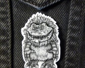Critters Brooch 80s Horror Movie Shrink Plastic Hand-drawn