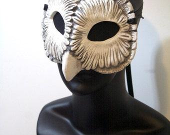 Fantasy Owl Mask / Hand Painted Resin Cast Mask / Original Artist Sculpt