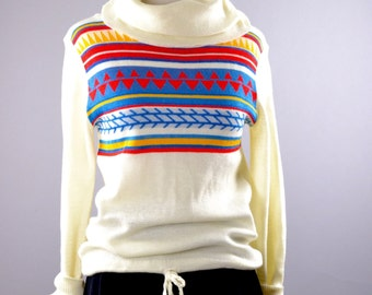 Women's 70's Cowl Neck Sweater