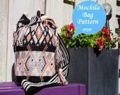 Mochila bag pattern, Tapestry crochet tutorial, crochet bag pattern, Mochila pattern, bag tutorial, English and Dutch PDF, Instant download