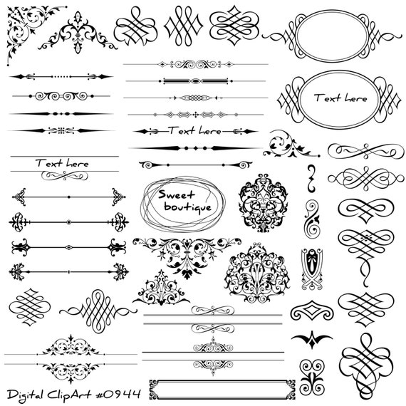One Line Text Art Hug : Digital text dividers page decoration wedding