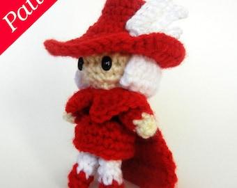 Final Fantasy-inspired Red Mage Amigurumi Doll Crochet Pattern