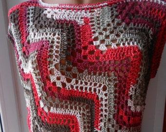 Crochet Top Crochet Vest Crochet Tunic Crochet Tank FREE SHIPPING