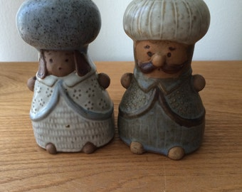 Vintage Ceramic Mid Century Figurines Salt and Pepper Shakers