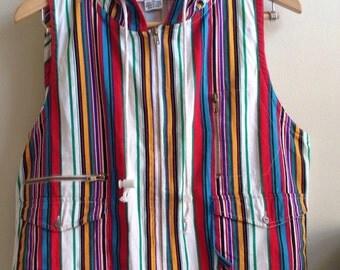 Striped Cotton Vest