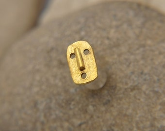 Tragus Earring - Cartilage Earring - Nose Ring Stud - 14K Gold Filled Masc Tragus Stud - Tragus Piercing - Gold Tragus Stud