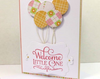 Welcome New Baby Girl Card