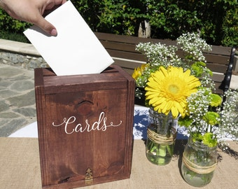 Rustic Wedding Card Box Wedding Card Holder Wedding Card Mailbox Keepsake Box Card Box Wedding gift card box Wedding box for Cards
