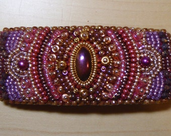 Bollywood bead embroidered barrette
