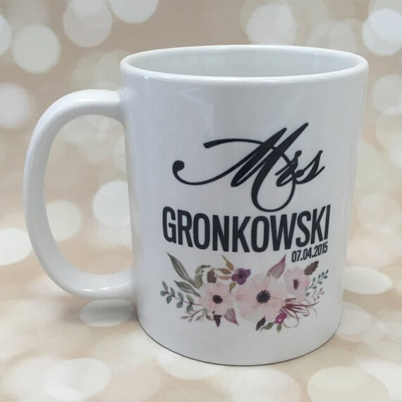 Wedding Gift Mugs Suggestions : ... Mug, Bridal Shower Gift, Wedding Gift, Engagement Gift, Newlywed Gift