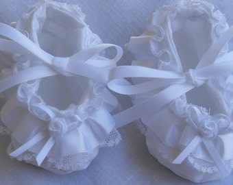 Baby girl christening/blessing/baptism shoes