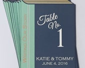 13 Library Book Table Number Cards For Nicole J.
