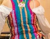 Rainbow Gypsy Waistcoat Bohemian Alternative Festival Unique Boho Gipsy Hippie Hippy Tattered Ragged