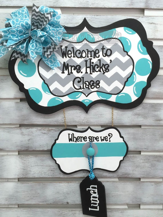 Classroom Decor Etsy : Classroom decor where are we personalized sign for