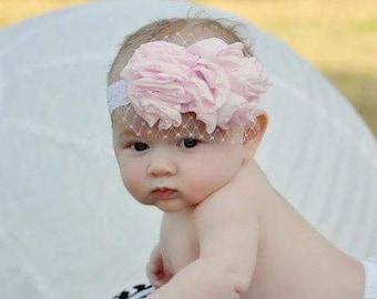 Ruffle and lace headband