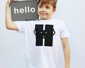 Letter H Kids T-shirt White