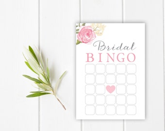 Bridal Bingo Game, Bridal Shower Game, Bridal Shower Bingo, Bridal Bingo Card, DIY Bingo, INSTANT DOWNLOAD