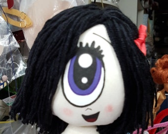 "Cyclops doll IRIS  ""open mouth"" 25cm/10in of Gloomsville, Ruby Gloom's best friend! Removable clothing."