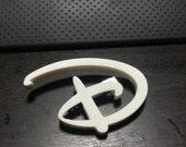 """Disney Style """"D"""" 3D Printed Brooch"""