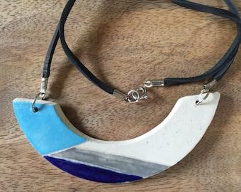 Ceramic, geometric necklace