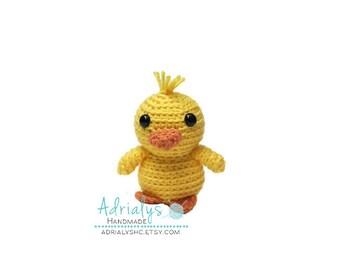 Crochet Tiny Yellow Duckling- Stuffed Duck- Duck Plush- Farm Animals- Pond Animals- Handmade Duck- Crochet Toy- Toy Plush- Made to Order