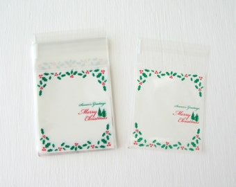 Holly Berry Christmas Party Favor Bags 25 Count | Christmas Party Favor Bags | Holly Berry Treat Bags | Christmas Treat Bags
