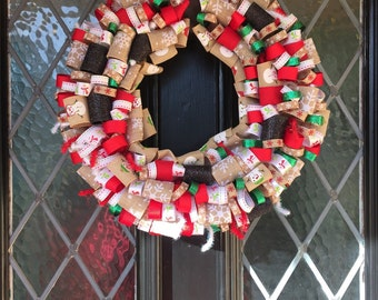 Snowman Ribbon Wreath