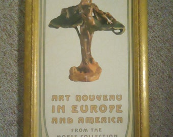 "Morse Museum Art Exhibition Poster ""Art Nouveau in Europe & America"" 1993 Professionally Framed Wall Art Collectible"