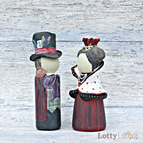 mad hatter wedding cake toppers of hearts and mad hatter wedding cake by lottylollipop 16979