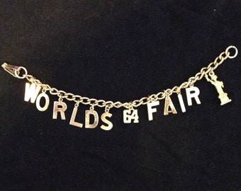 New York World's Fair Charm Bracelet