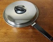 "Ekco Fry Pan or Saute Skillet with Lid ~ 10"" ~ Ekco Stainless Steel Radiant Core"