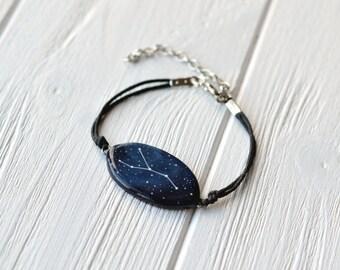 Signe du zodiaque cadeau anniversaire juillet juin Cancer de cancer bracelet cadeau astrologie cadeaux personnalisés cadeau Zodiac bijoux Horoscope Cancer bleu