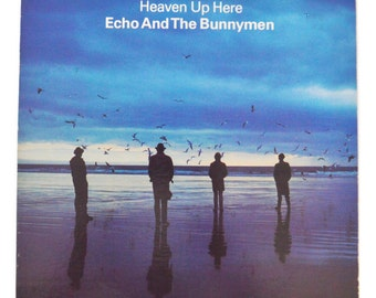 Vintage 80s Echo and the Bunnymen Heaven Up Here Album Record Vinyl LP