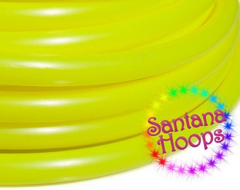 5/8 Mini Twins UV Yellow Polypro Hula Hoop Minis