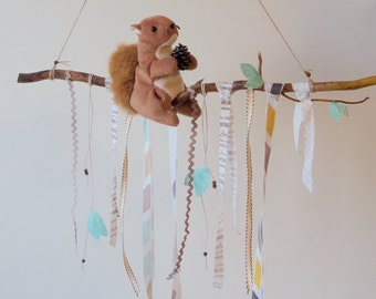 Woodlands Baby Mobile - Squirrel on a Branch Mobile