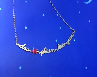 Necklace sentence stars eyeful