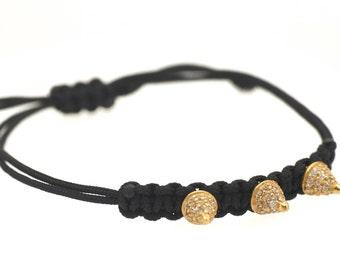 Spike Chord Bracelet