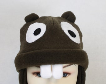 Beaver Fleece Hat (Baby, Child, and Youth Sizes)