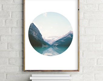 Mountain / Lake Printable Photo Wall Art, Modern contemporary poster download (8x10 and various sizes) Gallery Wall Print