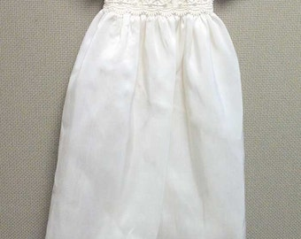Arianne Silk Christening Gown, Silk Baptism Gown, Silk Blessing Gown, Silk Gown for Baby Girl's