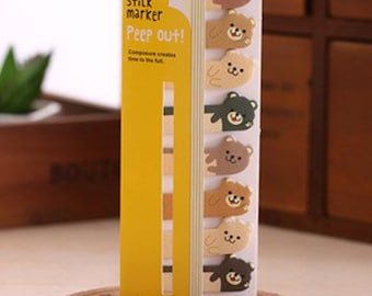 Cute Bears Peep Out Stick Markers SN1008POB