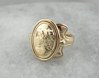 Goddess of Gold, Portrait of a Lady, Signet Ring  NLXURD-N