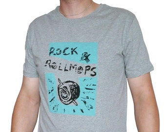 Rock & Rollmops, fairtrade organic shirt for men, sizes L, 100% organic cotton