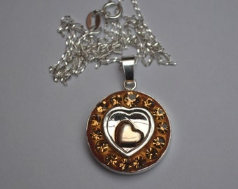 A Heart of Gold pendant necklace sterling silver