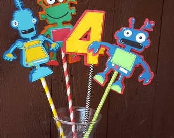 Robot Birthday Centerpiece