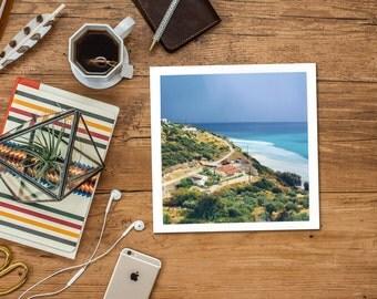 Square digital download, Greece instant printable, Samos after a storm, landscape, travel photography, fine art, wall art, home decor, ocean